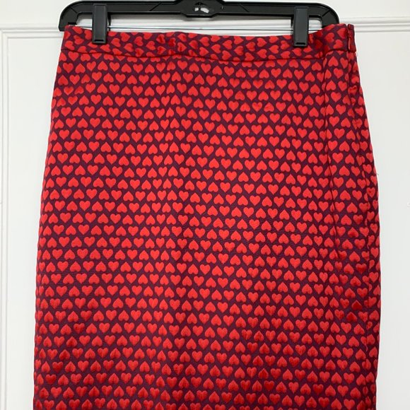 The Limited Heart Pencil Skirt